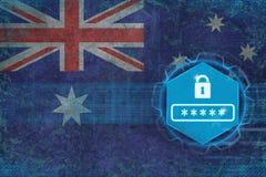 Australien lösenordskydd Netto säkerhetsbegrepp Arkivbilder