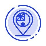 Australien, Land, Flagge, Nation, Linie Ikone der Standort-blauen punktierten Linie lizenzfreie abbildung