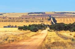 Australien liggande outback arkivbilder