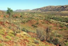 Australien macdonnellområde Arkivbild