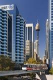 Australien monorail sydney Arkivfoton