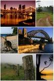 Australien montage Arkivbilder