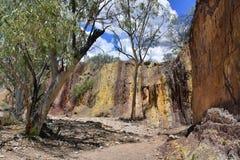 Australien, Nordterritorium, Hinterland, ockerhaltige Gruben lizenzfreie stockfotografie