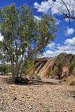 Australien, Nordterritorium, Hinterland, ockerhaltige Gruben stockbild