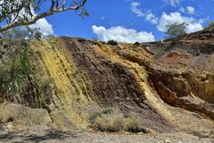 Australien, Nordterritorium, Hinterland, ockerhaltige Gruben lizenzfreie stockbilder