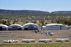 Australien, NT, Alice Springs, fliegender Doktoranschluß stockbilder