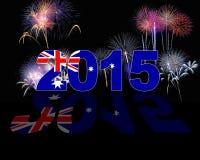 Australien nytt år 2015 Arkivfoton