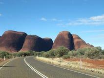 Australien olgas outback Fotografering för Bildbyråer