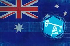 Australien oljeindustri Olje- extraktionbegrepp Arkivfoton