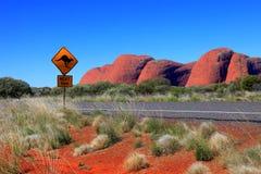 Australien outback Arkivfoton