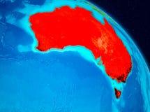 Australien på jord Arkivfoton