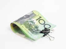 Australien pengar på vit bakgrund Royaltyfri Foto