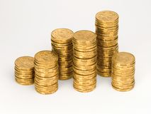 Australien pièces de monnaie de l'un dollar Image libre de droits