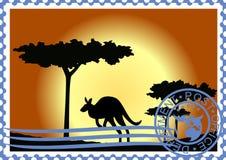 Australien portostämpel Fotografering för Bildbyråer