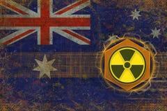 Australien radioaktivt hot Utstrålningsfarabegrepp Royaltyfri Bild