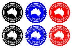 Australien rubber stämpel vektor illustrationer