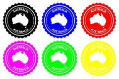Australien rubber stämpel stock illustrationer