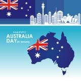 Australien självständighetsdagenbaner med stilfull och modern design vektor illustrationer