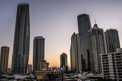 Australien-Skyline-Sonnenuntergang Stockbilder