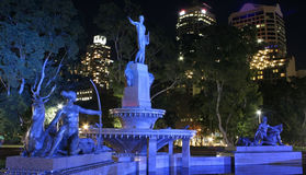Australien springbrunn Hyde Park sydney Royaltyfria Foton