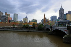 Australien stad melbourne Fotografering för Bildbyråer