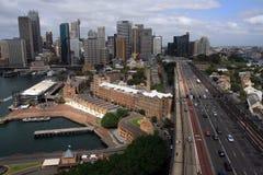 Australien stadshorisont sydney Fotografering för Bildbyråer