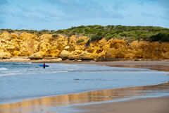 Australien strand torquay Royaltyfri Foto