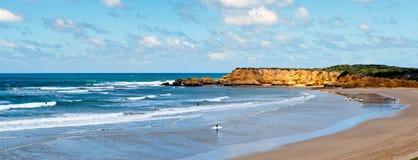 Australien strand torquay Arkivfoto