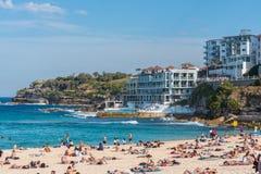 Australien strandbondi De sista dagarna av vintern 2015 arkivbilder