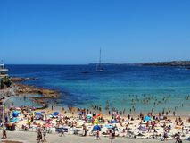 Australien strandbondi sydney Arkivfoto