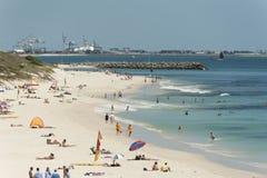 Australien strandcottesloe västra perth Arkivbild