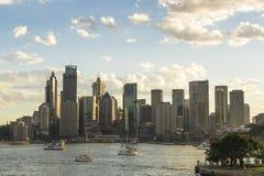 Australien sydney CBD panoramautsikt Arkivfoton
