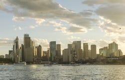 Australien sydney CBD panoramautsikt Royaltyfri Bild