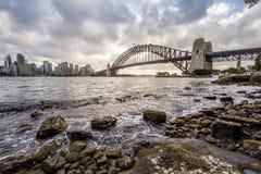 Australien sydney CBD panoramautsikt Arkivfoto
