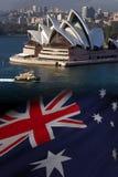 Australien - Sydney Opera House stockbilder