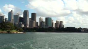 Australien Sydney, sikt av horisonten arkivfilmer