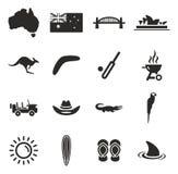Australien symboler stock illustrationer
