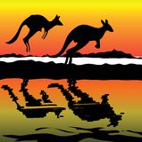 Australien symbolskänguru Arkivbild