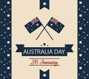 Australien-Tageskarte oder -hintergrund Stockbilder