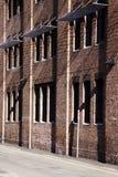 Australien tegelsten som bygger den röda sydney väggen Royaltyfri Fotografi