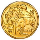 Australien une pièce de monnaie du dollar Photographie stock