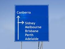 Australien vägmärke royaltyfri fotografi