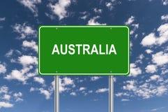 Australien vägmärke arkivfoto