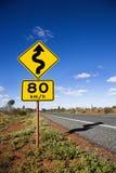 Australien-Verkehrsschild stockbild