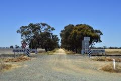 Australien Victoria, järnväg Royaltyfri Foto