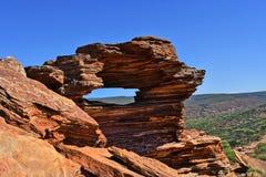 Australien WA, Kalbarri NP, naturfönster arkivfoto