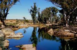 australiensisk billabong Fotografering för Bildbyråer