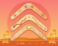 Australiensisk bumerangdesign royaltyfri illustrationer