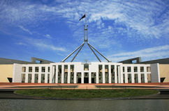 australiensisk byggande canberra parlament Royaltyfria Bilder