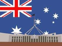 australiensisk byggnadsparlament Arkivfoton